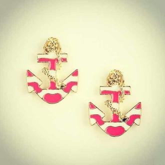 jewels anchor earrings