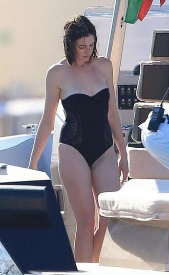 swimwear one piece swimsuit anne hathaway summer beach black swimwear