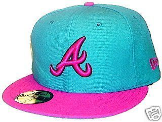 Atlanta Braves Hat New Era Sz 7 3 8 Perfect Match for Lebron South Beach Shoes | eBay