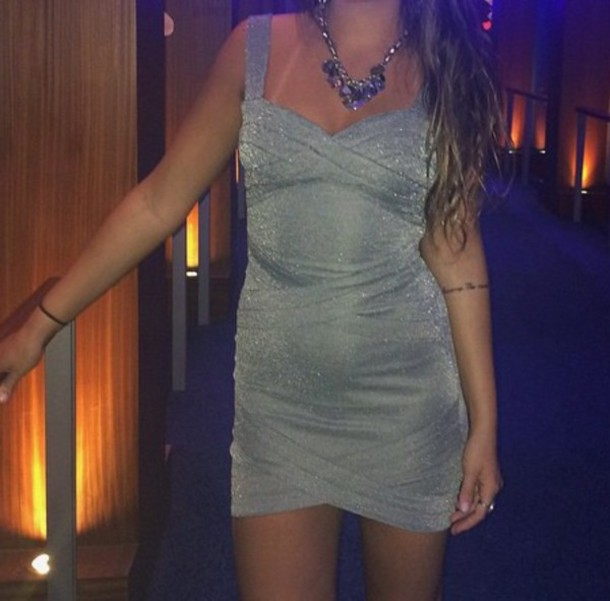 dress shimmery dress shimmer grey dress party dress