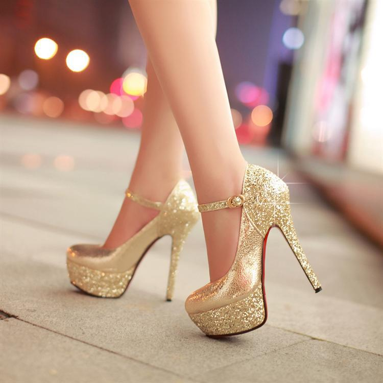 2013 Fashion Sapatos Platform Shoes Red Bottom High Heels Paillette Women's Pumps Sexy Elegant Wedding Shoes Woman-inPumps from Shoes on Aliexpress.com