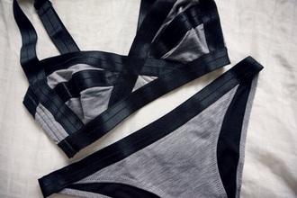 underwear grey black cool elastic cardigan home accessory