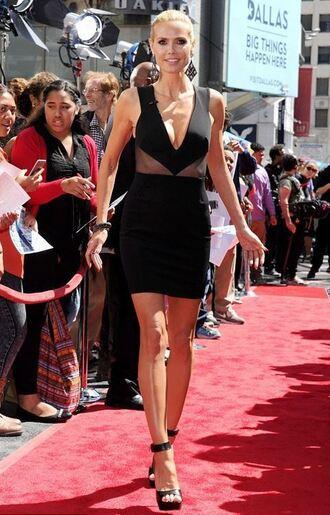 dress sandals black dress short dress heidi klum plunge v neck shoes
