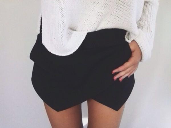 skirt black short shorts