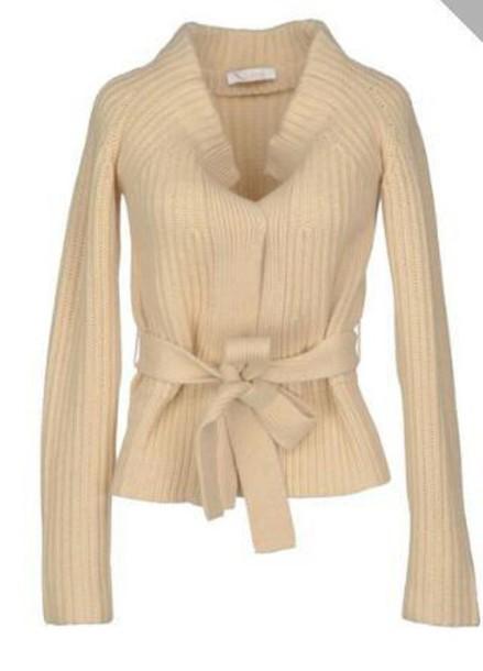 cardigan beige sweater tie front