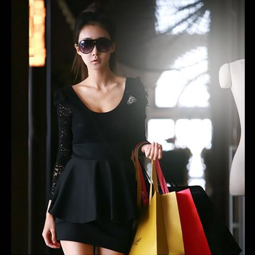 Sexy Black Lace Mini Clubbing Cocktail Party Dress   eBay