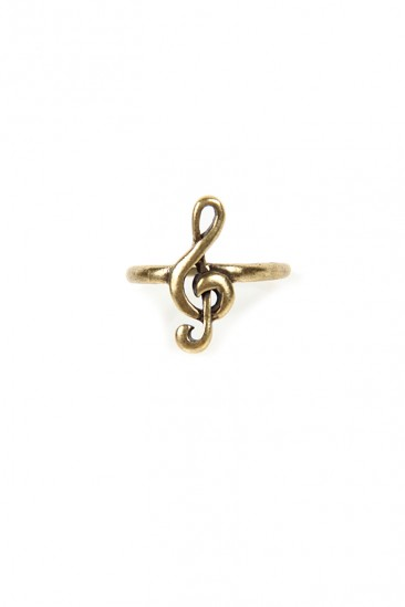 LoveMelrose.com From Harry & Molly | Music Symbol Ring - Gold