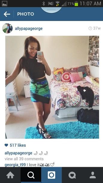 skirt black skirt green skirt blue skirt zipper shirt
