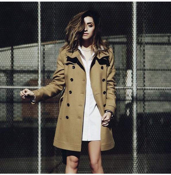 coat jacket beige jacket