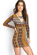 Boho Elephant Surplice Dress | FOREVER21 - 2000069767