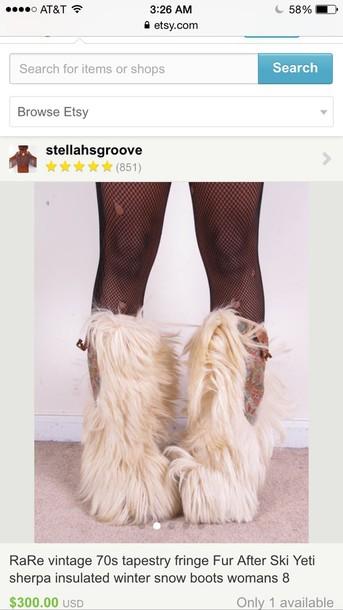 shoes eskimo boots furry boots