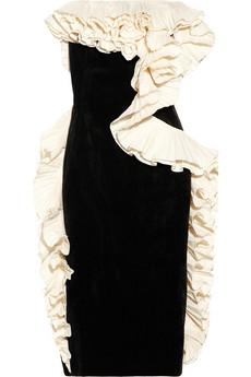 Ruffled velvet dress | Lanvin | 65% off | THE OUTNET