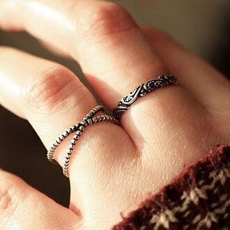 jewels shop dixi sterling silver ring jewelry boho bohemian grunge
