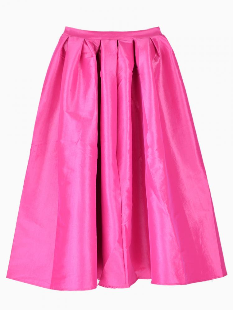 Pink Midi Skater Skirt   Choies
