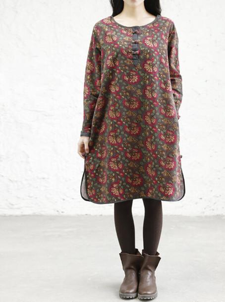dress cotton floral dress