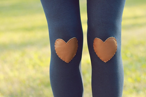 My Leather Heart Navy Leggings // size small by shopflattery