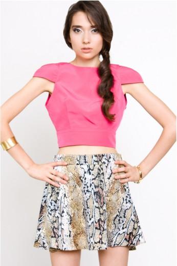 Naven Python Circle Skirt- Naven Circle Skirts- $110