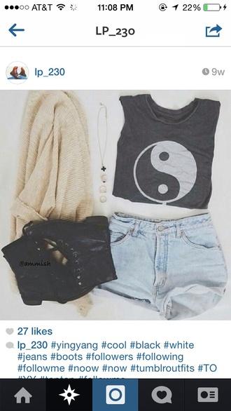 yin yang hippie boho boho chic boho shirt hippie chic shoes