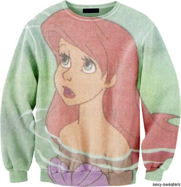 sweater the little mermaid mermaid