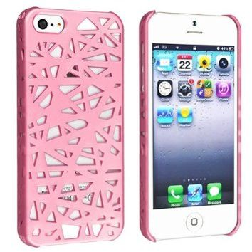 Caetle(tm) Snap-on Case Compatible with Apple iPhone 5 / 5S, Pink Bird Nest Rear on Wanelo
