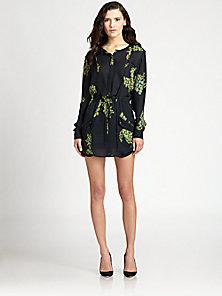 A.L.C. - Simona Floral-Print Silk Shirtdress - Saks Fifth Avenue Mobile
