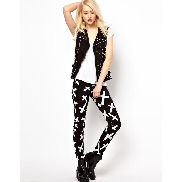 Tripp Nyc Crosses Skinny Jeans - Polyvore