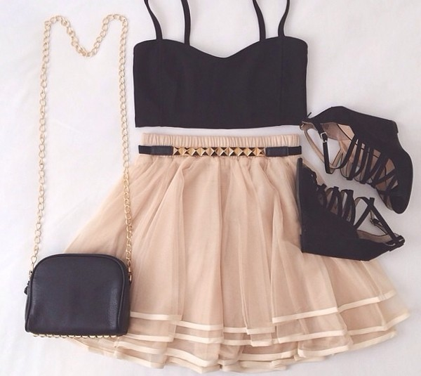 skirt top belt