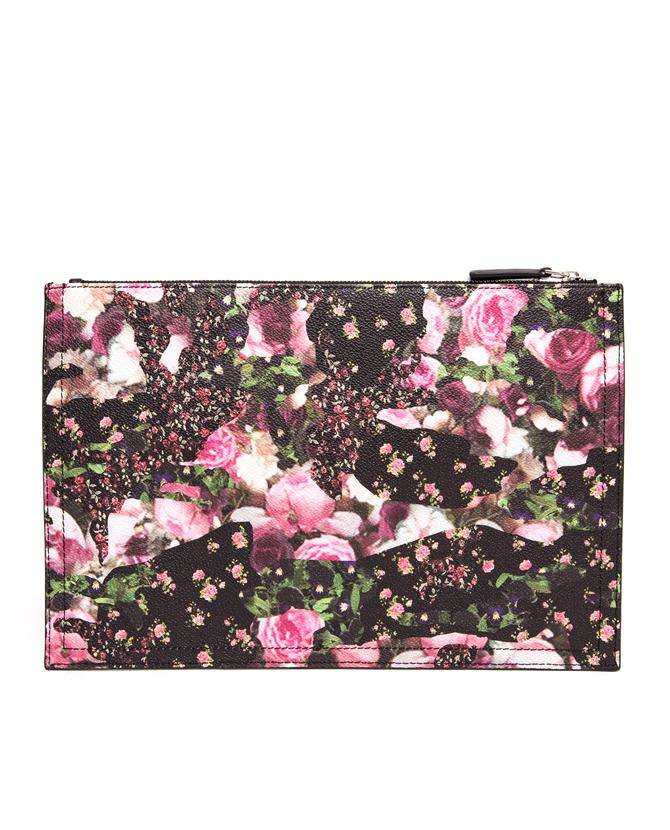 GIVENCHY   Abstract Floral Leather Clutch   Browns fashion & designer clothes & clothing