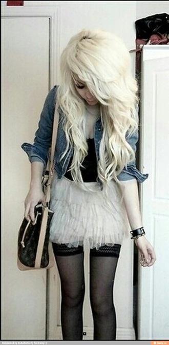 skirt white skirt ruffled skirt grunge goth emo thigh highs short skirt feathery pretty pretty skirt floaty floaty skirt jacket