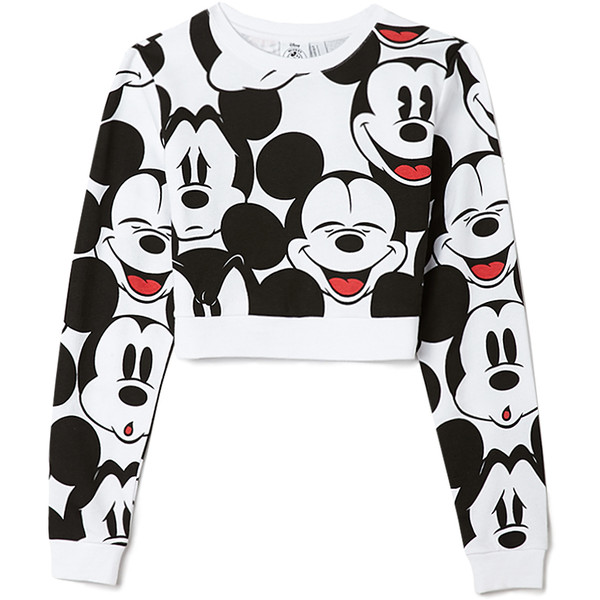 Oh Mickey Cropped Sweatshirt - Forever 21 - Polyvore