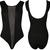Damenbody Netzeinsatz Ärmellos Stretch Schwarz Damen Bodysuit Neu 36-42 | eBay