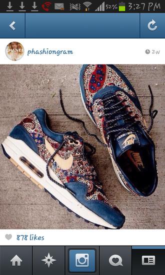 shoes nike air max 1 paisley nike x liberty nike sneakers