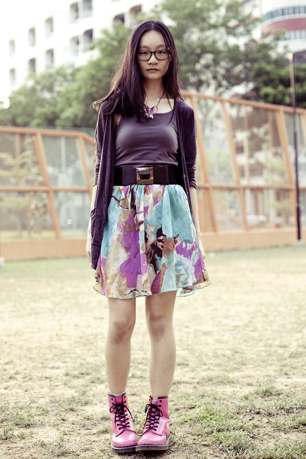 pupuren top jewels skirt shoes t-shirt jeans bag