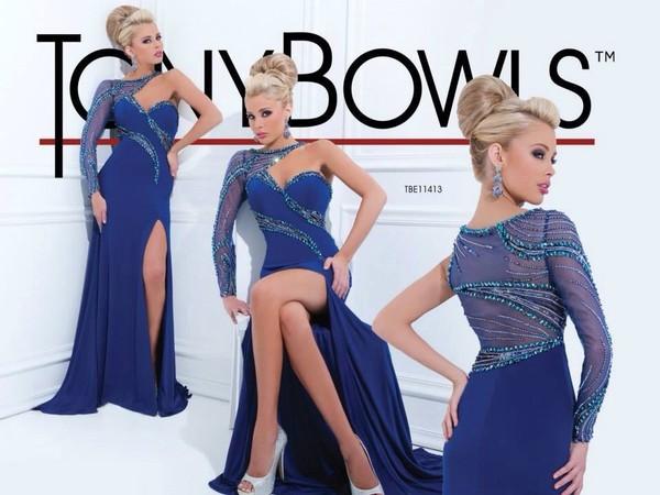 dress asymmetric blue dress