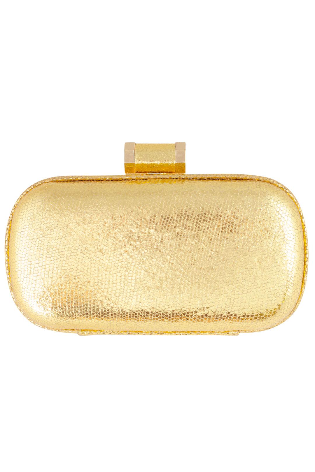 Golden Ticket Clutch by Halston Heritage Handbags at $10 | Rent The Runway