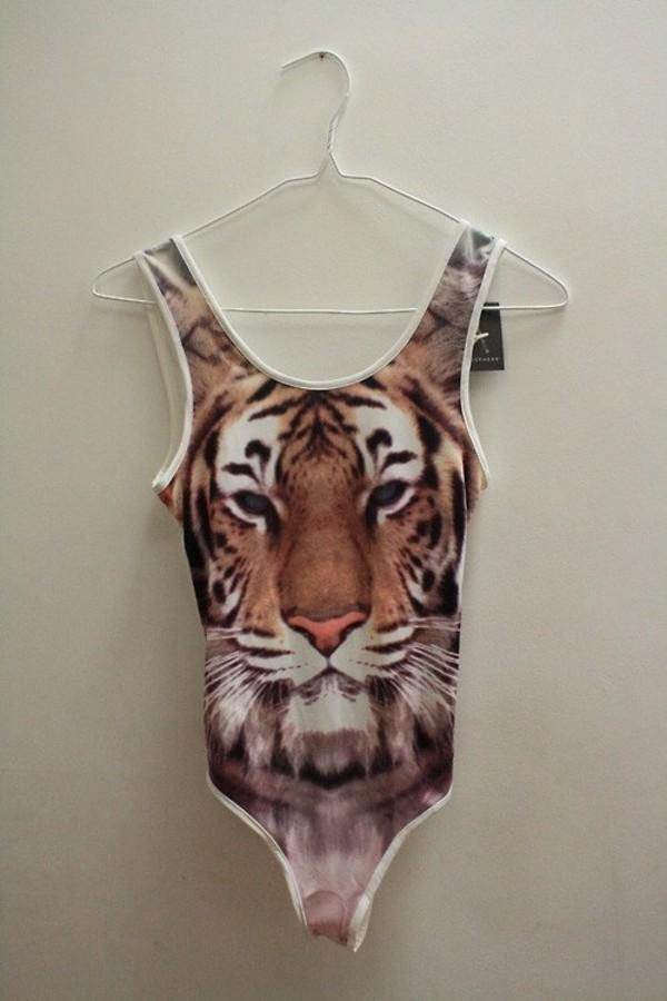 shirt body bodysuit tiger