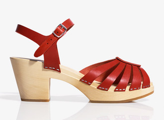 sandals medium heels leather red shoes shoes