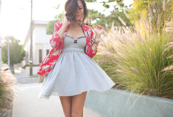 song of style jacket dress jewels shoes