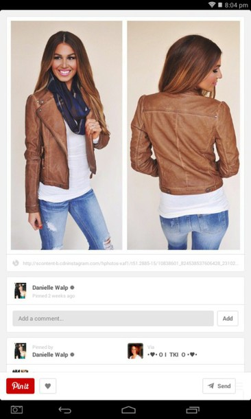 jacket fake leather fall outfits