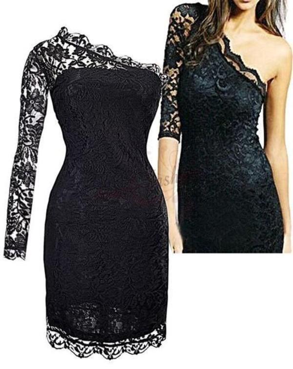 dress lace black lace dress