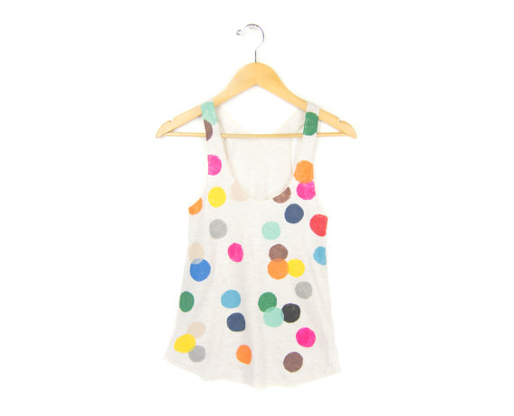 Colorful Confetti Women's Racerback Hand by twostringjane on Etsy