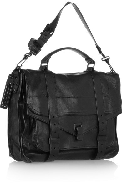 Proenza Schouler|The PS1 large leather satchel|NET-A-PORTER.COM