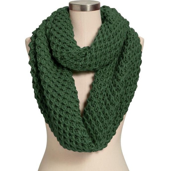 Old Navy Womens Honeycomb Stitch Infinity Scarves - Dark green - Polyvore