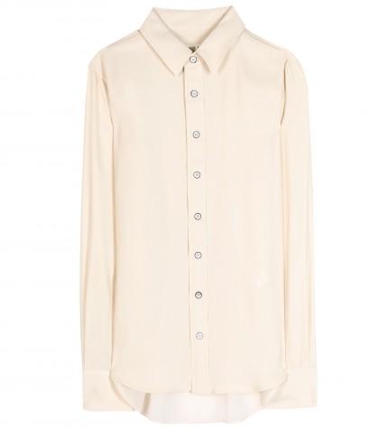 mytheresa.com -  Hudson washed-silk shirt  - Long-sleeved - Tops - Clothing - Luxury Fashion for Women / Designer clothing, shoes, bags