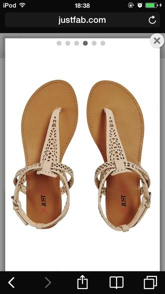 shoes beige sandales justfab
