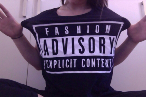 t-shirt fashion pale black parental advisory explicit content