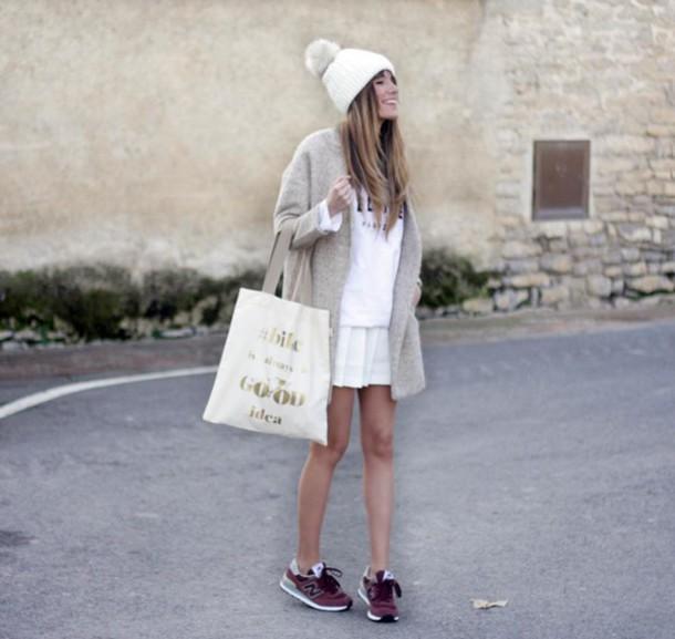 rebel attitude blogger skirt bag coat shoes hat