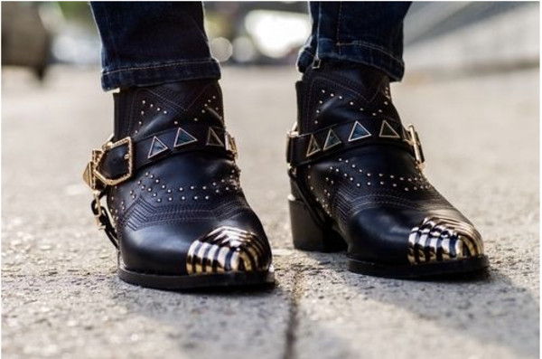 shoes boots cowboy boots leather studs