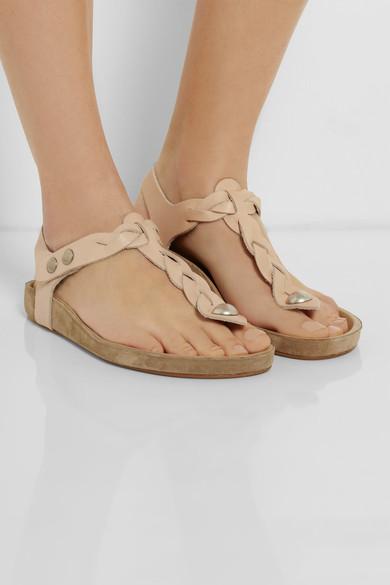 Isabel Marant|Brook braided leather sandals|NET-A-PORTER.COM