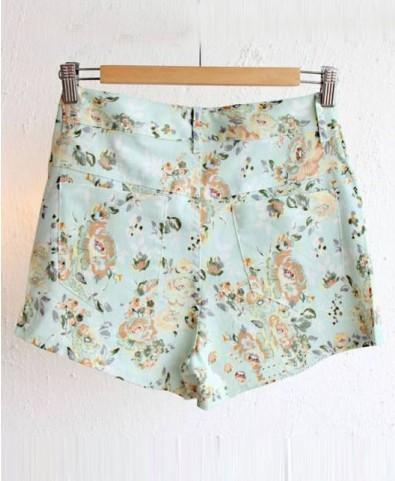 Floral Print Denim Suit